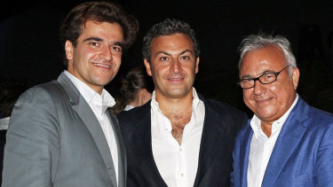 Brothers Saman and Cyrus Ahsani and their father Ata Ahsani: the men behind Unaoil.