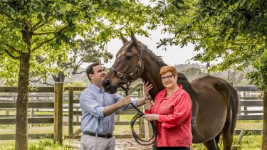 Stuart Ayres with his partner Marise Payne, now the Foreign Affairs Minister,   at Fernhill in 2015.