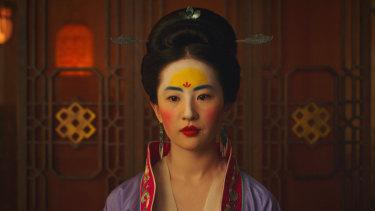Liu Yifei in the title role of Mulan.