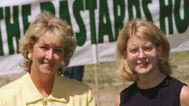 Natasha Stott Despoja with Cheryl Kernot in 1996.