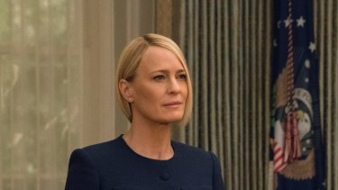 Wright plays President Claire Underwood in the final season of House of Cards.
