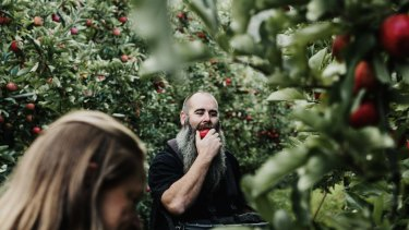 Apple pickers at Willie Smith's cidery and orchard in the Huon Valley, Tasmania.