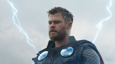 Chris Hemsworth as Thor in Avengers: Endgame.