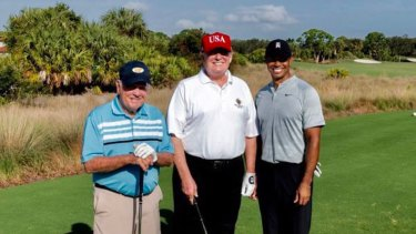 US President Donald Trump has golfed with Tiger Woods and Jack Nicklaus.