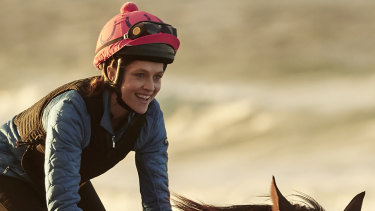 Teresa Palmer plays Michelle Payne in Rachel Griffiths' biopic of the first female jockey to win the Melbourne Cup.