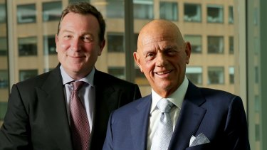 Premier Investments chairman Solomon Lew (right) and chief executive Mark McInnes want a 70 per cent cut in how much they pay landlords.