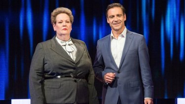 Anne Hegerty and Andrew O'Keefe on The Chase Australia.