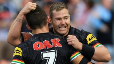 Former Panther Trent Merrin returns to the Dragons this season.