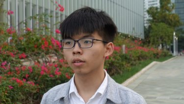 Joshua Wong, a student activist and secretary-general of the Demosisto party.