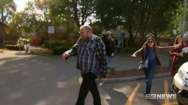 David Lawrence West outside Armadale Magistrates Court at an earlier date.