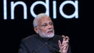 Indian PM Narendra Modi.