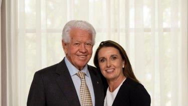 Blackmores' biggest shareholder Marcus Blackmore and wife Caroline.