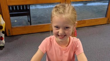 Jordan Marden stranded at her school due to floodwaters on her 7th birthday.