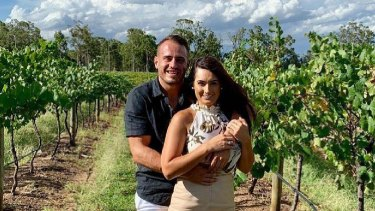 NRL star Josh Reynolds and then girlfriend Arabella Del Busso.