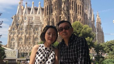 Yang Hengjun and his wife, Yuan Xiaoliang, photographed in Barcelona.