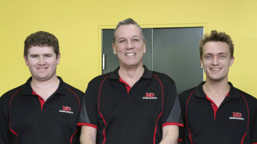 Colin Peckover (middle) and staff at MD Computers.