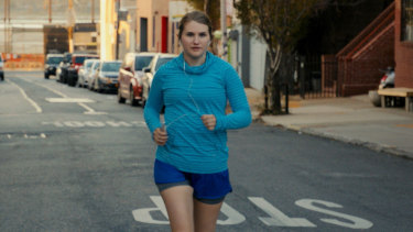 Brittany's initial goal is to make it to the end of her block.