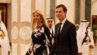 Ivanka Trump and husband Jared Kushner, both White House advisers, at the Royal Court Palace in Riyadh, Saudi Arabia during US President Donald Trump's visit.