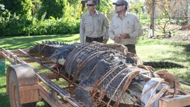Wildlife rangers John Burke and Chris Heydon have been on the hunt for the crocodile for a decade.