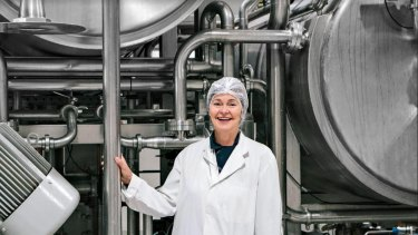Anni Brownjohn at her factory in Murwillumbah, NSW.