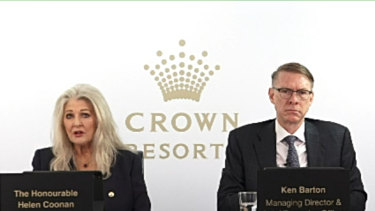 Crown chair Helen Coonan and chief executive Ken Barton tell shareholders they are reformers.