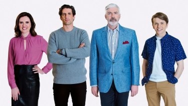 The Talkin' 'Bout Your Generation team (from left): Robyn Butler, Andy Lee, Shaun Micallef and Laurence Boxhall.