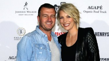 Former Today show EP Mark Calvert, left, with journalist Belinda Russell at a 2016 charity event.