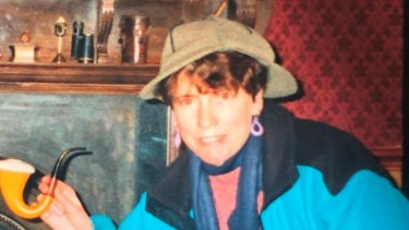 Margaret Gleeson at the Sherlock Holmes museum in London in 1993.