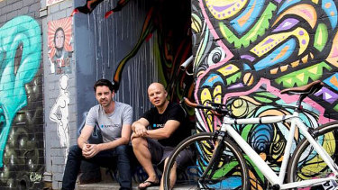 Quad Lock founder Rob Ward,(left) and Chris Peters launched a crowdfunding campaign in 2011  to fund their startup.