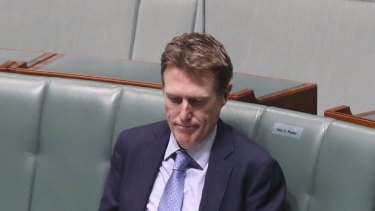 Minister for Industry, Science and Technology Christian Porter during question time on Tuesday.