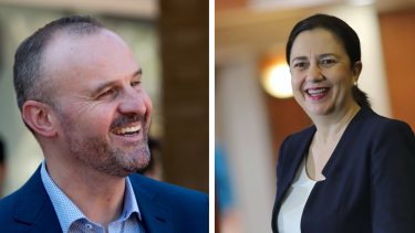 ACT Chief Minister Andrew Barr and Queensland Premier Annastacia Palaszczuk.