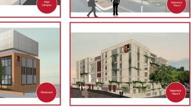 St Josephs' College Spring Hill expansion plans showing proposed changed at four properties.