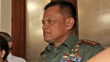 General Gatot Nurmantyo (right) is a leading voice of nationalist posturing.