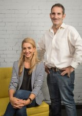 River City Labs' new chief executive Peta Ellis, with founder and managing director Steve Baxter.