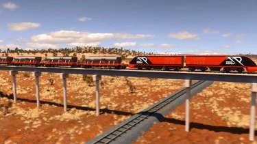 An artist's impression of the proposed sky rail.