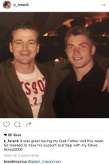 The godfather: Trouble rugby league star Kieran Foran and Don Mackinnon.