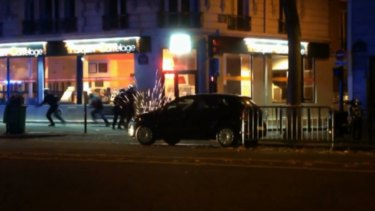 The moment of the shootout between security forces and attackers at the Bataclan concert hall.