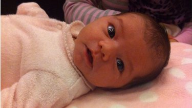 An asylum seeker baby born in Australia, held in a detention centre at Broadmeadows and scheduled to be sent to Nauru.
