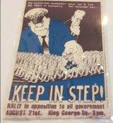 Matt Mawson's Keep in Step poster, 1979
