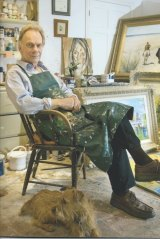 John Myatt, in his studio, says ''you need to love'' an artist to fake their work.
