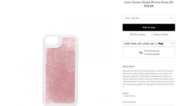 Forever New is still selling phone cases that are filled with glitter and liquid.