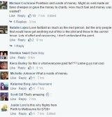 Dozens of Facebook users criticised Virgin Australia over the grand final day flight stunt.