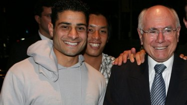 AFL Multicultural Development Officer Ali Fahour (left) with then Prime Minister John Howard in 2007.