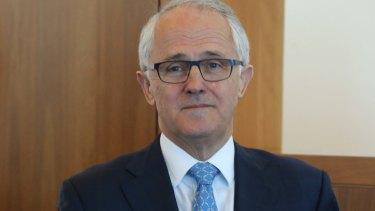 Conciliatory: Malcolm Turnbull.