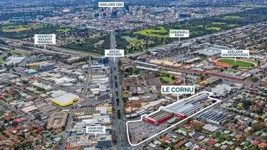 Le Cornu sitein  Adelaide.