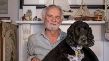 Children's book author and illustrator Bob Graham and Alfie.