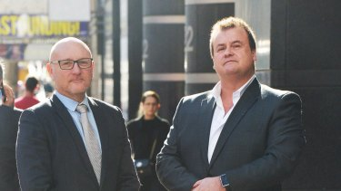 Steven Schultze and Stephen Wilson run a company offering security for victims of family violence.