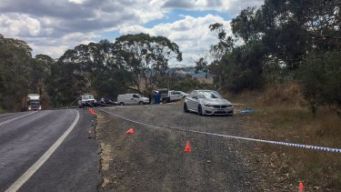 The crime scene outside Oberon in the Central Tablelands where the body was found.