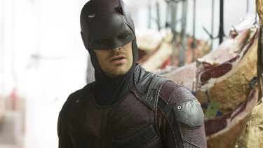 Charlie Cox as <i>Marvel's Daredevil</i>.