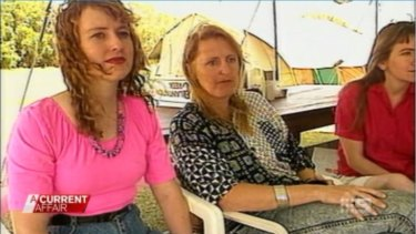 Michelle Maguire living in the cult family's commune, taking turns with Alistah Laishkochav.